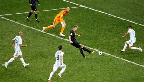 argentina vs croacia el tercer gol de rakitic humill 243 a