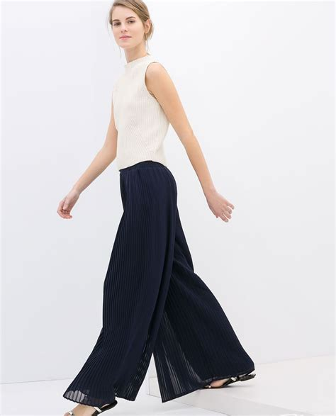 Saidah Maxi by Wide Pleated Trousers From Zara Style