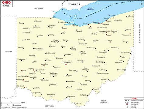 map of ohio with major cities cities in ohio ohio cities map