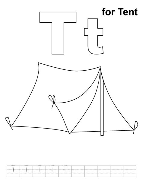 free coloring pages of a tent