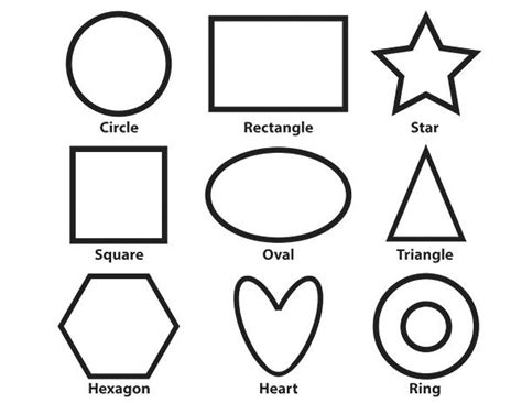 printable shapes a4 coloring sheets for toddlers shapes pages on coloring