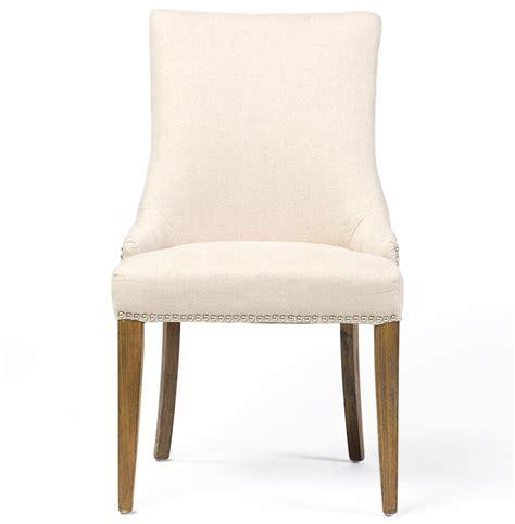 linen chair selena regency nailhead linen dining chair