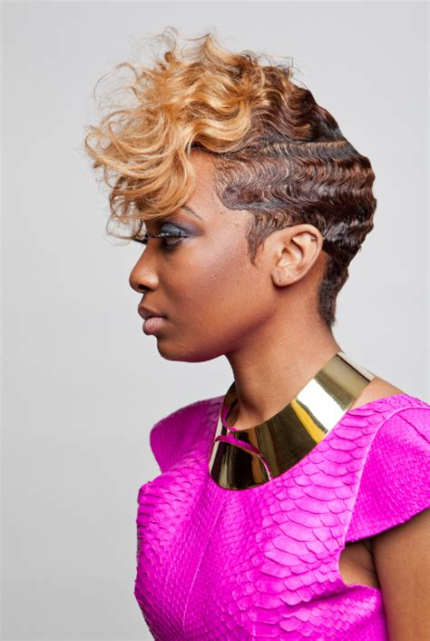 black hairstyles with finger wave sides and curls on top finger wave hairstyles for black hair hairstyles