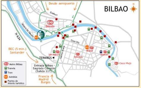 map of spain bilbao bilbao spain tourist destinations