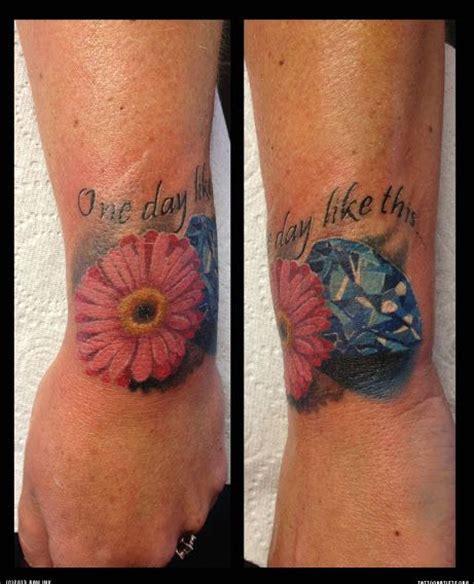 diamond tattoo cover up ideas 25 best ideas about gerbera daisy tattoo on pinterest