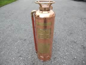 childs copper brass antique extinguisher ebay