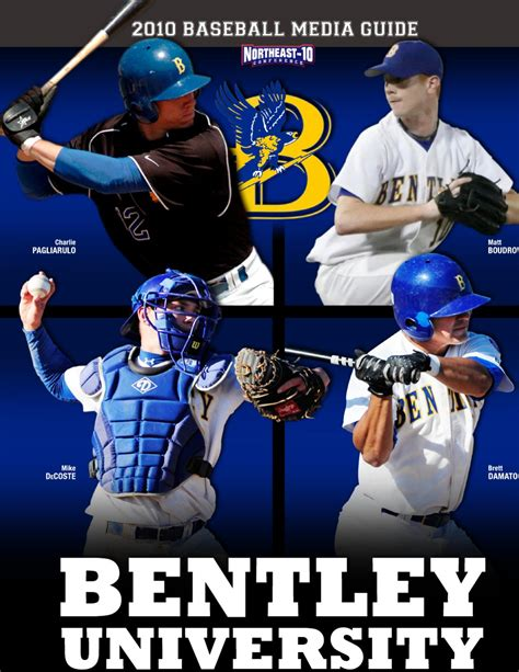 bentley baseball 2010 bentley baseball media guide by lipe
