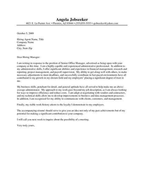 administrative cover letter cover letter for administrative assistant