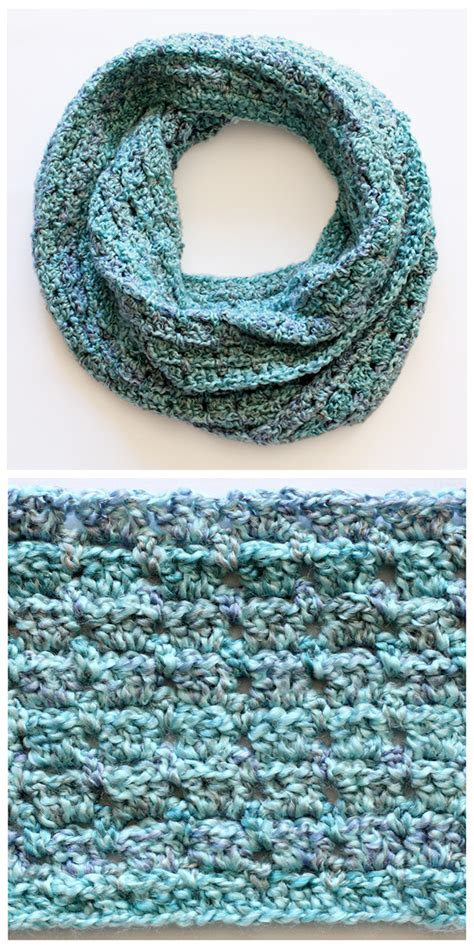 crochet pattern infinity scarf easy last minute free crochet infinity scarf pattern for him