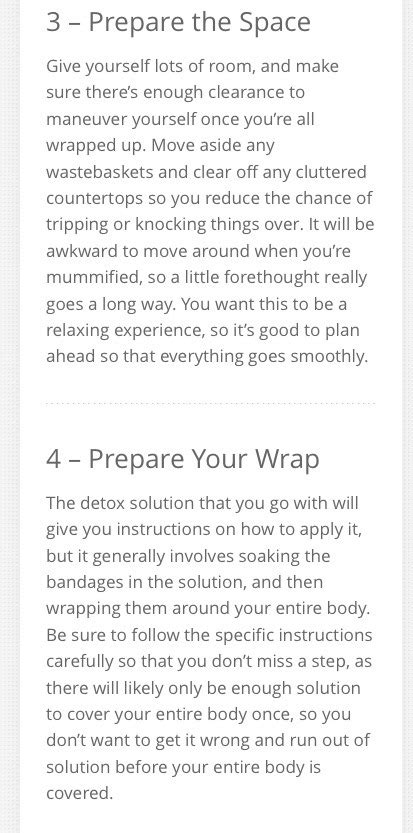 How To Make Your Own Detox Wrap by How To Make Your Own Detox Wraps Musely