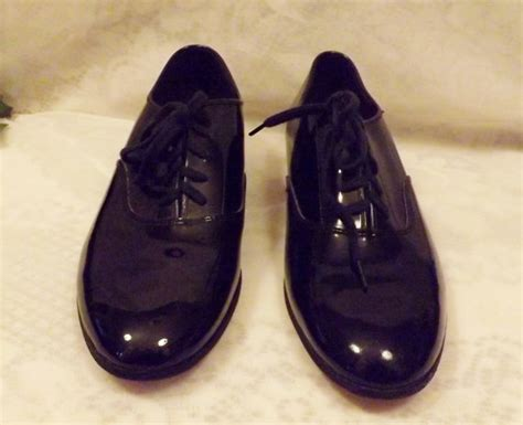 mens black patent leather or tap shoes size 7 5 by