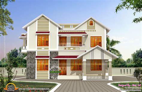 front  side elevation  house kerala home design