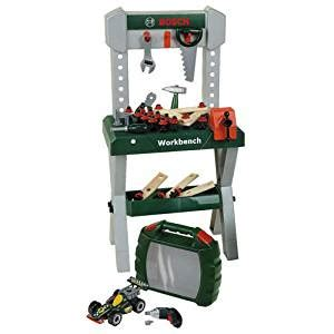 bosch toy work bench bosch workbench set with car kit amazon co uk toys games