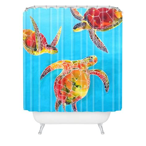 Turtle Bathroom Accessories Tie Dye Sea Turtle