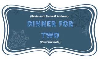 dinner gift certificate template best photos of food voucher template in pdf payment