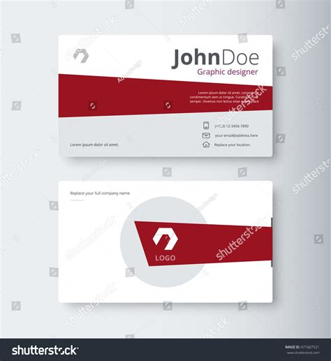 email business card templates business contact card template design vector stock vector