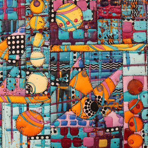 Paint Stitch Vibrant Acrylic Quilts With Pasquini