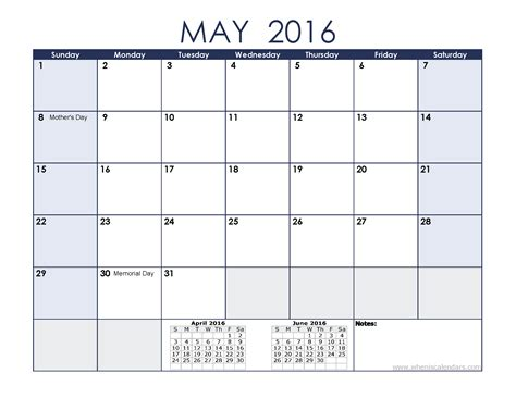 printable calendar holidays 2016 may 2016 calendar