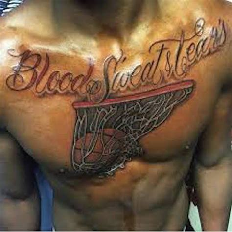 blood sweat and tears tattoo 50 basketball tattoos that are just so amazing they re a