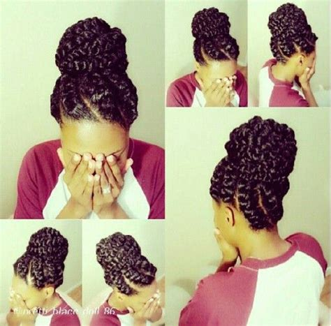 big braids going into a bun 50 catchy and practical flat twist hairstyles hair