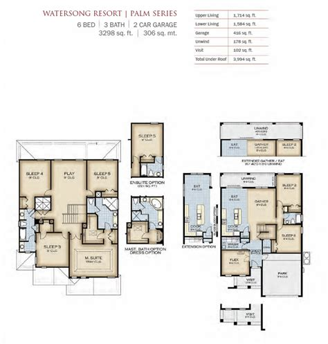 park square homes floor plans watersong resort von park square homes neue wohnungen und