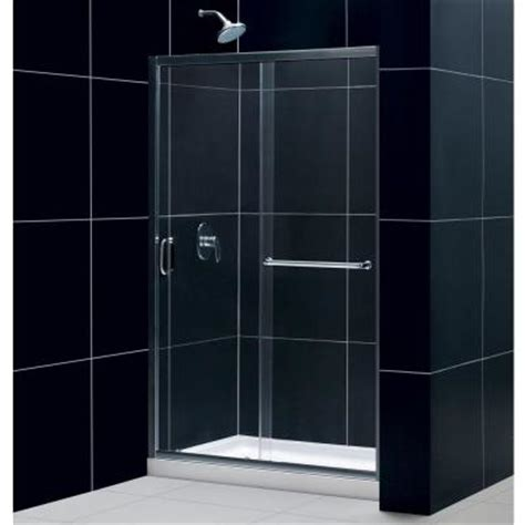 Shower Base With Glass Doors Dreamline Infinity Z 44 To 48 In X 72 In Framed Sliding