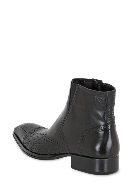 Handcrafted Leather Boots - jo ghost handcrafted leather python boots in black for