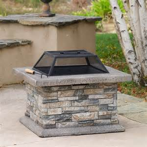 Wood Burning Firepits Shop Best Selling Home Decor 29 In W Cement Wood Burning Pit At Lowes