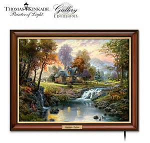home interiors kinkade prints kinkade mountain retreat lighted canvas print