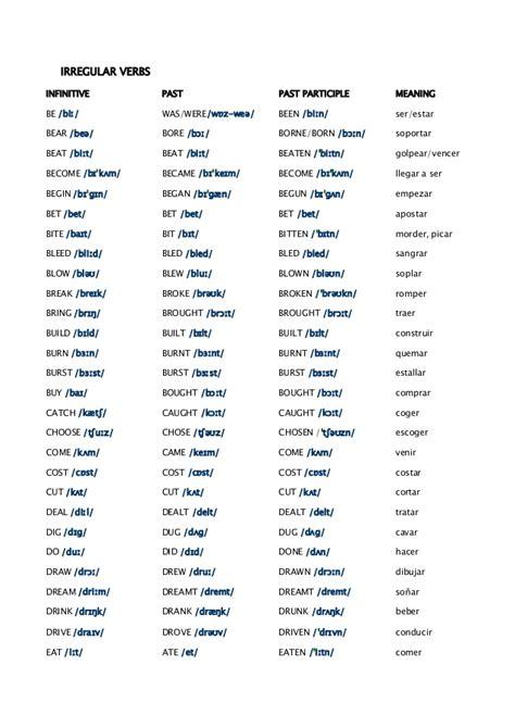 search results for irregular verbs calendar 2015
