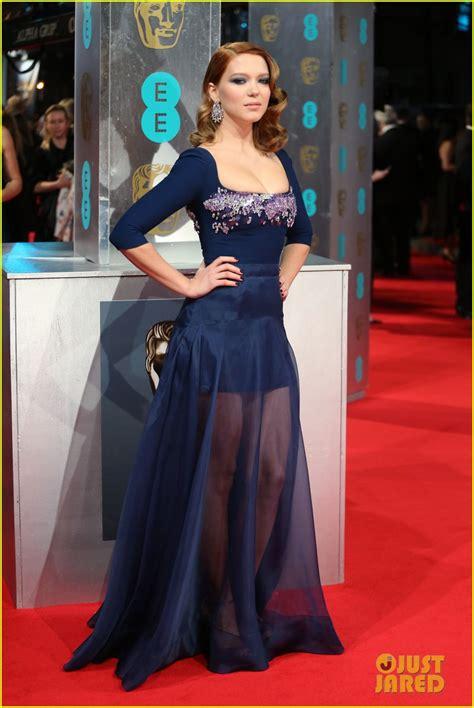 lea seydoux bafta lea seydoux shows blue is the warmest color at baftas 2014