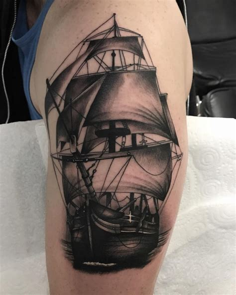 ship tattoo design 95 best pirate ship designs meanings 2018