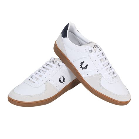 fred perry shoes fred perry shoes white trentham leather and suede trainers