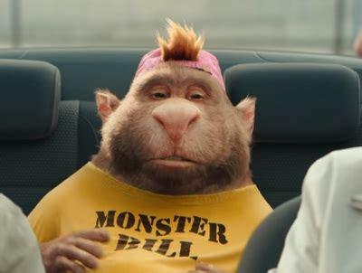 gocompare monster bill advert porky passenger    seat
