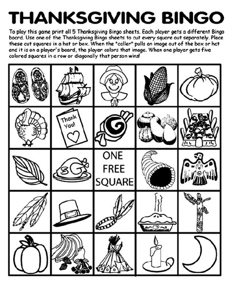 thanksgiving printable coloring pages crayola thanksgiving bingo board no 5 coloring page crayola com