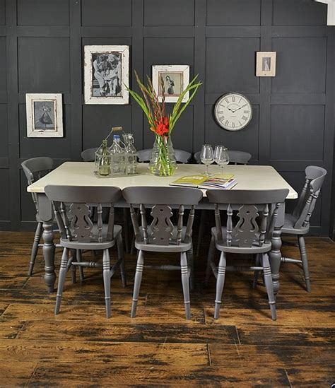 shabby chic dining set 8 seater grey shabby chic farmhouse dining set tables