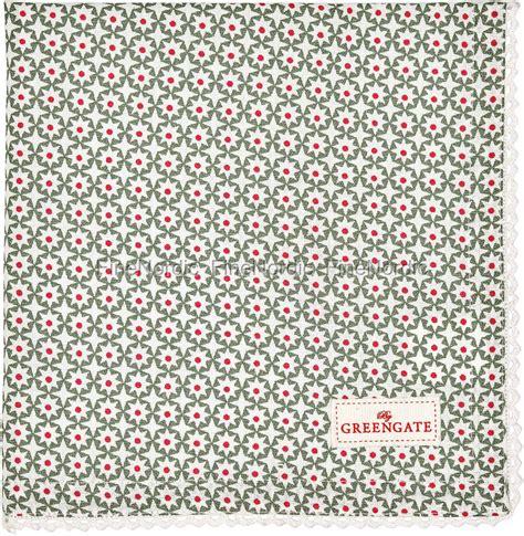 Laras Green greengate stoffserviette napkin with lace lara green