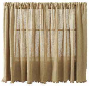 Tobacco Cloth Curtains Tobacco Cloth Khaki Tier Fringed Set Of 2 Rustic