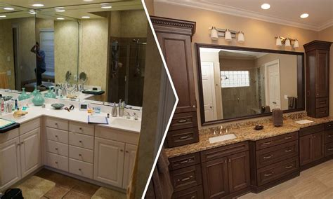 before and after master bathroom remodels master bathroom remodel creating a spa like atmosphere