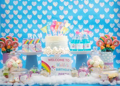 unicorn themed birthday party rainbow unicorn theme party feature