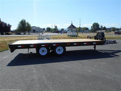 in trailer new pj trailers flatdeck flatbed utility trailer