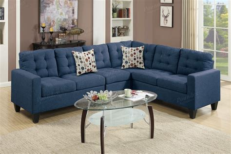 navy fabric sectional sofa