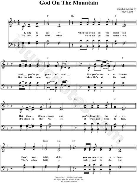 printable lyrics god on the mountain lynda randle quot god on the mountain quot satb choir a cappella