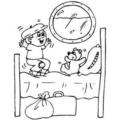 boy jumping coloring page boy jumping to bed coloring page