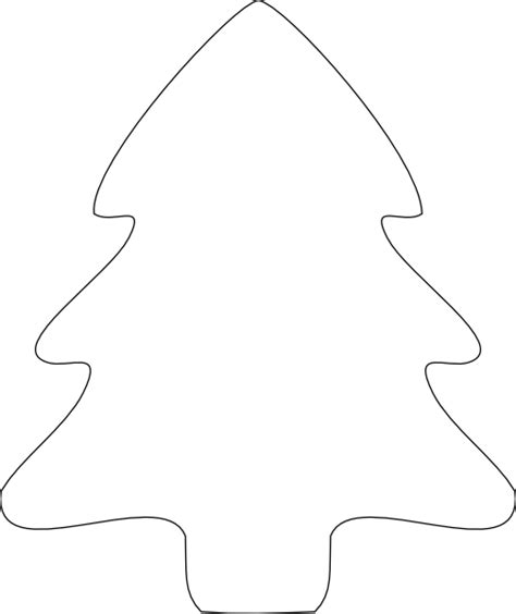 christmas tree outline clip art at clker com vector clip