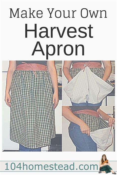 pattern harvest apron how easily to make a harvest apron gardens head to and eggs