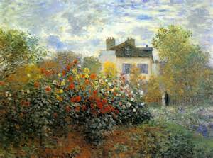 the garden of monet at argenteuil claude monet wikiart