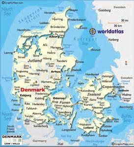 Denmark landforms map amp details