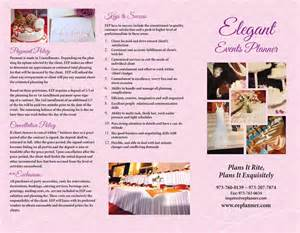 wedding planner brochure template event planner brochure event planner template