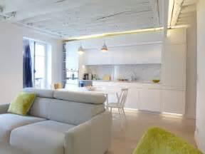 am 233 nagement salon design avec cuisine ouverte c 244 t 233 maison